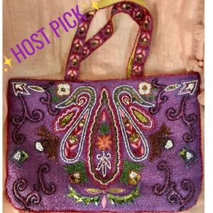 💜HP💜 Gorgeous hand beaded multi color bag
